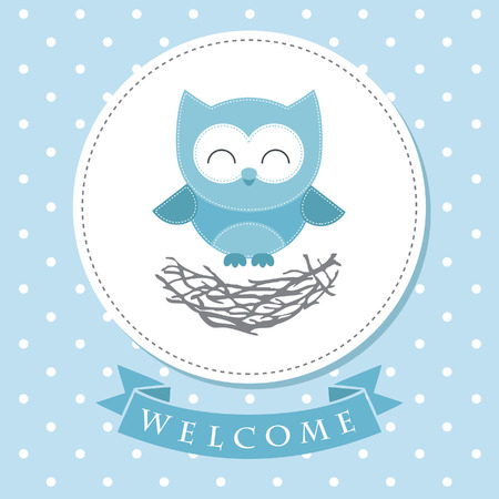 welcome baby card design. vector illustration 矢量图像