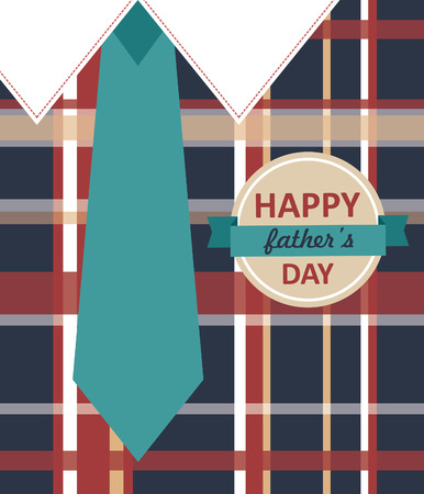 Happy Fathers Day card design. vector illustration Vector