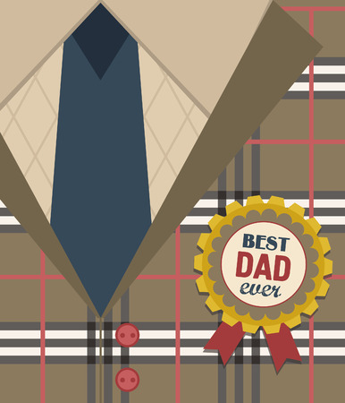 happy Fathers Day: Dise�o de la tarjeta del d�a de padre feliz. ilustraci�n vectorial
