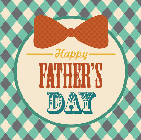 Happy Father's Day card design. vector illustration