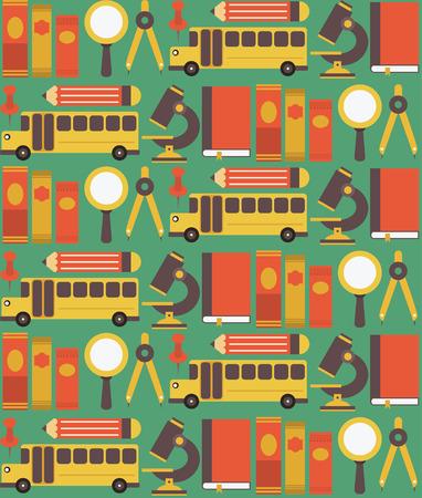 back to school seamless pattern design. vector illustration Vector