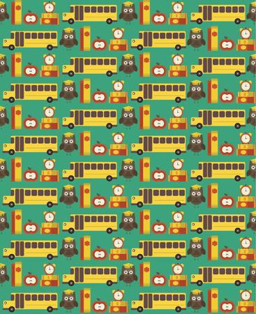 seamless school pattern design. vector illustration Stok Fotoğraf - 32022360