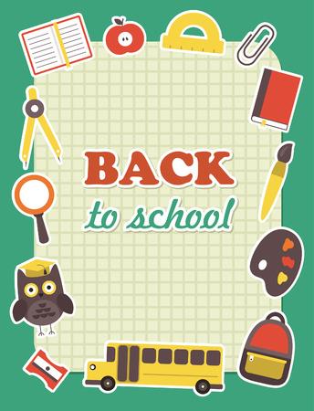 school frame: back to school frame design. vector illustration