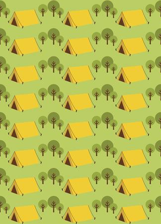 campamento de verano: patr�n de dise�o campamento de verano sin problemas. ilustraci�n vectorial Vectores