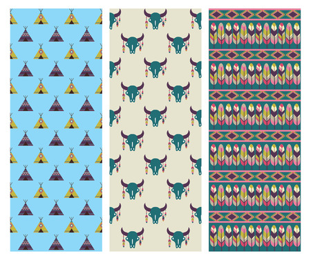 ethnic patterns collection. vector illustration Vector