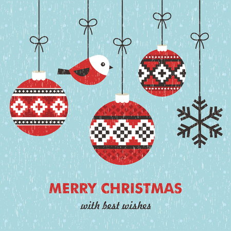 happy holidays: merry christmas card design. vector illustration