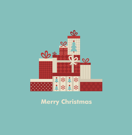 retro christmas tree: christmas  card design. vector illustration