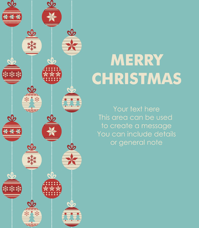 merry christmas and happy new year card design. vector illustration 矢量图像
