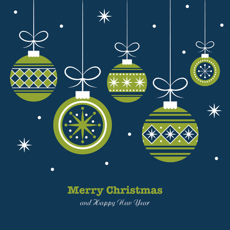 merry christmas card design. vector illustration