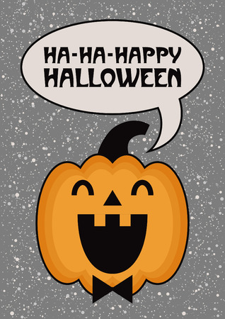 Fun Halloween card design. Vector illustration.