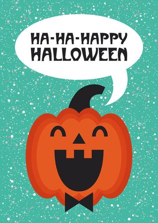 Happy Halloween card design. Vector illustration.