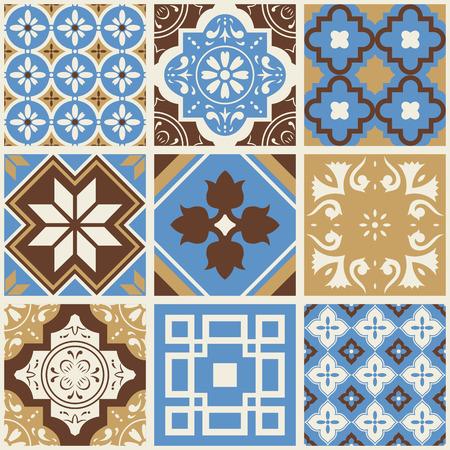 Decorative tile pattern design. Vector illustration. Illustration