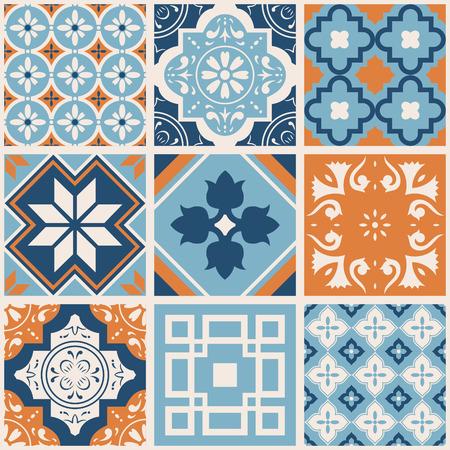 Decorative tile pattern design. Vector illustration. 向量圖像