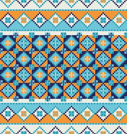 Decorative mosaic tile pattern design. Vector illustration.