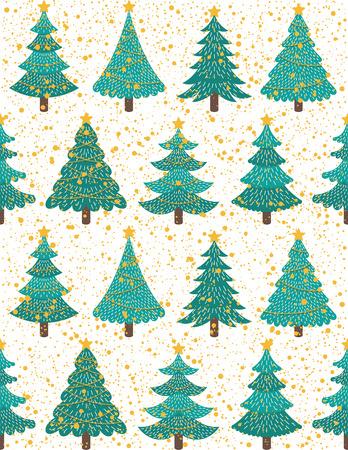 Christmas seamless pattern design. Vector illustration.