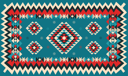 kilim: Ethnic geometric pattern design. Vector illustration.
