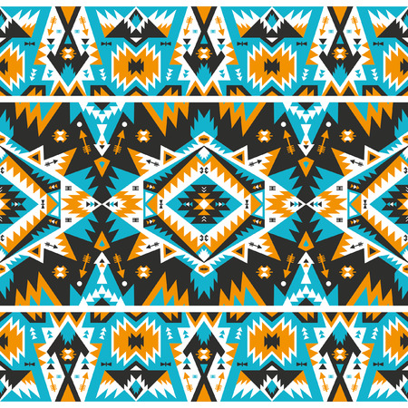 Seamless ethnic pattern in tribal style. Vector illustration.