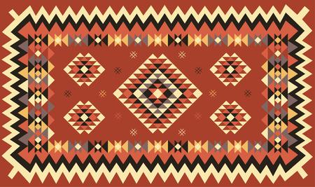 Ethnic geometric pattern design. Vector illustration.