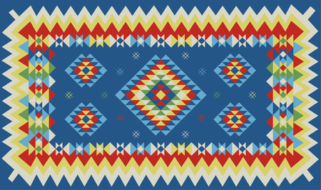 Ethnic geometric pattern design. Vector illustration.