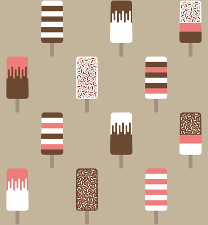 retro styled: Retro styled ice cream seamless pattern. Vector illustration.