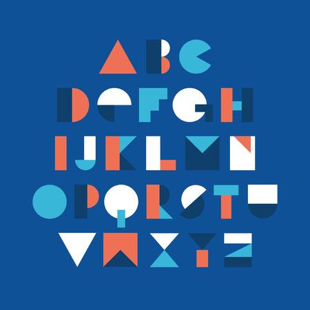font design: Geometric font design. Vector illustration. Illustration