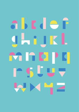 Geometric alphabet design. Vector illustration. Illustration
