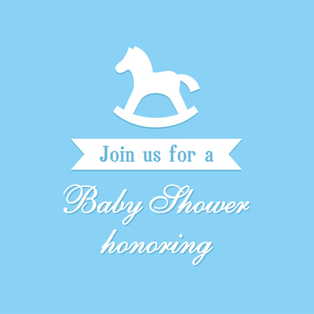 Baby shower card design vector illustration.