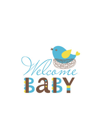 baby boy shower card design. vector illustration