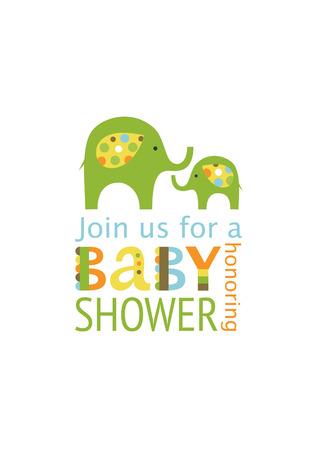 cute baby shower card design. vector illustration
