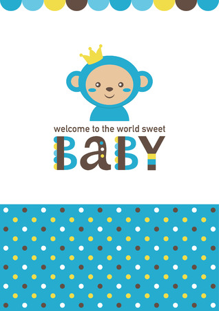 Baby boy shower card design. vector illustration.