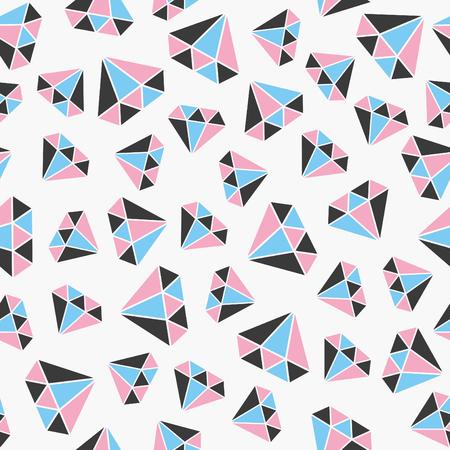 gem: seamless gem pattern. vector illustration