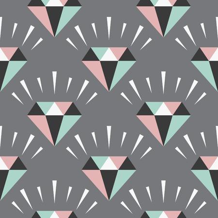seamless gem pattern. vector illustration