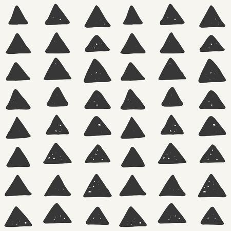hand drawn triangle pattern. vector illustration