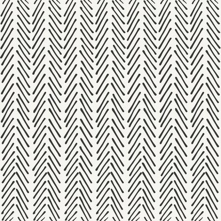 disegnato a mano design pattern a spina di pesce. illustrazione vettoriale Vettoriali