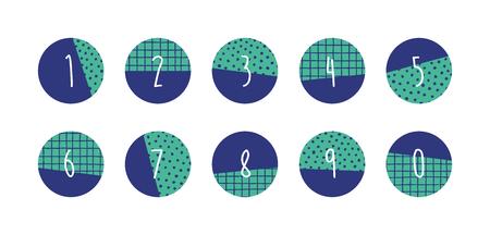Numbers set. Vector illustration. Illustration