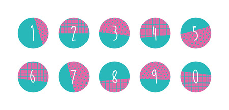 5.0: Numbers set. Vector illustration. Illustration