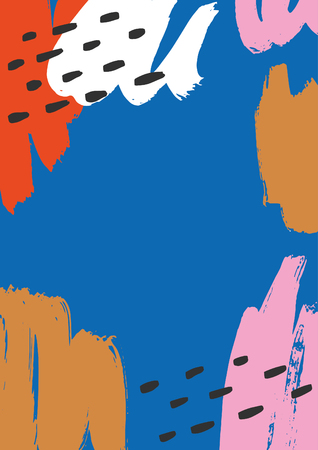 Hand drawn artistic background. Vector illustration. Ilustração Vetorial