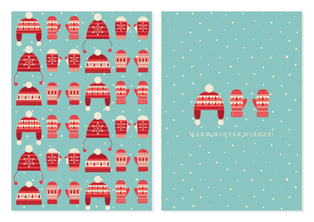 MERRY CHRISTMAS CUTE CARD DESIGN. VECTOR ILLUSTRATION.