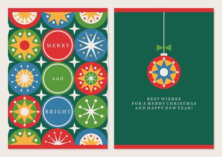Elegant Christmas Greeting Card. Vector illustration.