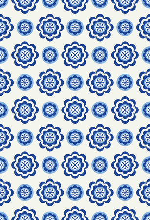 Floral seamless pattern in Scandinavian style Vector Illustration.