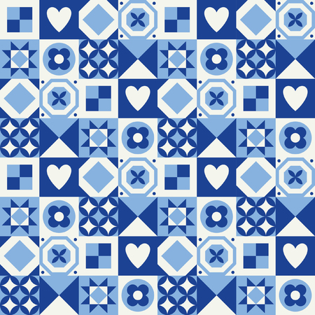An abstract geometric seamless pattern in Scandinavian style Vector Illustration. Illustration