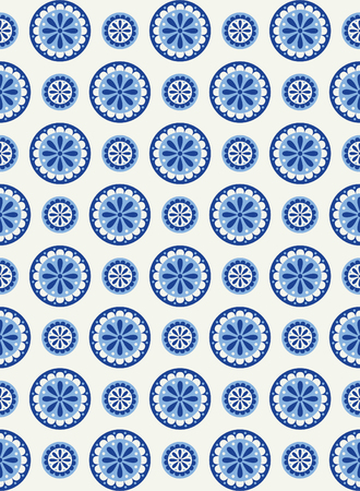 Abstract floral seamless pattern in Scandinavian style Vector Illustration.