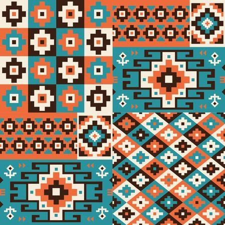 Oriental geometric seamless pattern. Ethnic design. Vector illustration.