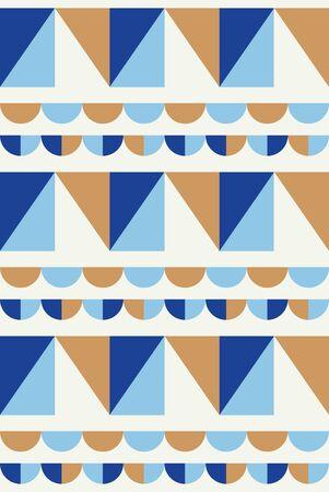 Abstract geometric seamless pattern. Scandinavian and folk design. Vector Illustration.