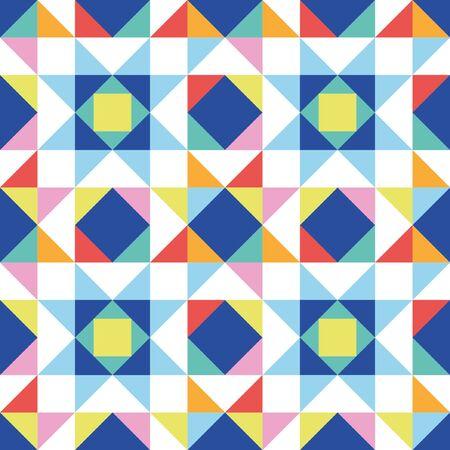 Patchwork star seamless pattern. Vector illustration. Illustration