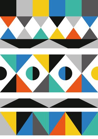 Abstract geometric seamless pattern. Scandinavian and folk design. Vector Illustration.