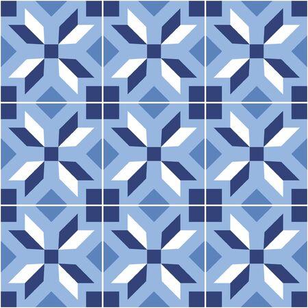 Geometric tile set. Scandinavian style. Vector illustration.