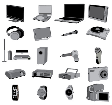 electronic: electronic devices Illustration