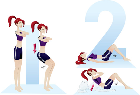 number of people: exercises beautiful woman