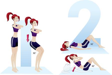 aerobics class: exercises beautiful woman